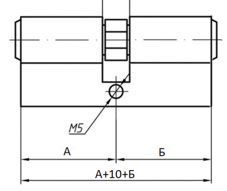 Профильный цилиндр для замка двери